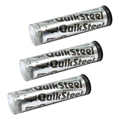 Trousse de réparation de soudure en métal, résine d'époxy renforcée QuikSteel par Cargo, lot de 3
