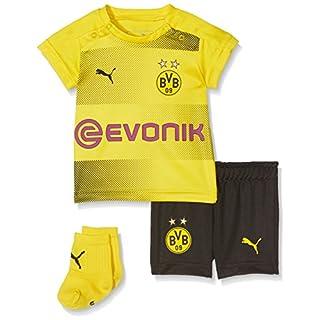 PUMA Kinder BVB Home Babykit Socks Sponsor Logo with Packaging Fußball T-Shirt, Cyber Yellow Black, 86