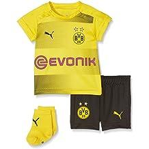 Puma BVB Niños Kit para bebés, Calcetines, Logo de Publicidad, Camiseta de fútbol