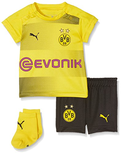 PUMA Kinder BVB Home Babykit Socks Sponsor Logo with Packaging Fußball T-Shirt, Cyber Yellow Black, 86 (Kleinkind Gelbe Trikot)