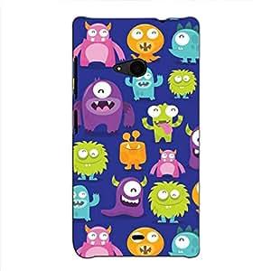Bluethroat animated multiple kids monster pic Back Case Cover for Microsoft Lumia 535 :: Microsoft Lumia 535 Dual SIM :: Nokia Lumia 535