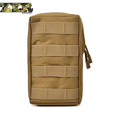 Zuoxiangru Nylon Portable Outdoor Waist Bag Waterproof Military Camouflage Bag Case Men Waist Pack Bag
