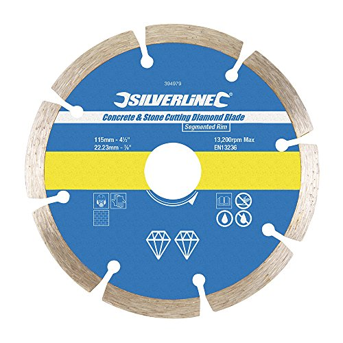 silverline-394979-disco-de-corte-diamantado-para-piedra-y-hormigon-115-x-222-mm