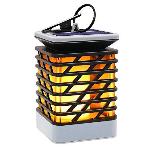 Hängende Solar Laterne im Freien garten dekoratives,LED Campingleuchte camping campinglampe Laternen, Kerzenlampe des flackernden Flammen-Effektes beleuchtet Auto an / aus
