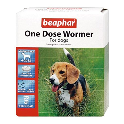 Beaphar One Dose Wormer Small/Medium 2 Tabs