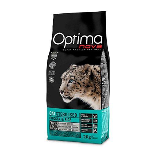 Optima Cat Sterilized Gatto 2 kg x 2 sacchi Cibo Alimento Secco Gatti Crocchette