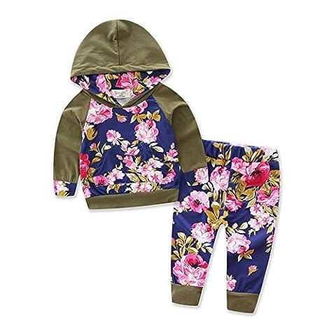Babykleidung,GUT® 2pcs Kleinkind Baby Junge Mädchen Kleidung Set Hoodie Tops + Pants Outfits