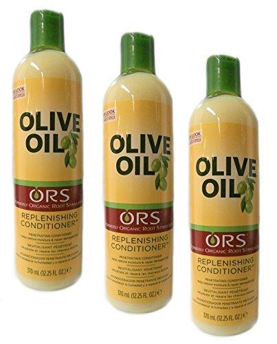 3x Organic Root Stimulator Olive Oil Replenishing Conditioner 370ml (insgesamt - 1110ml)