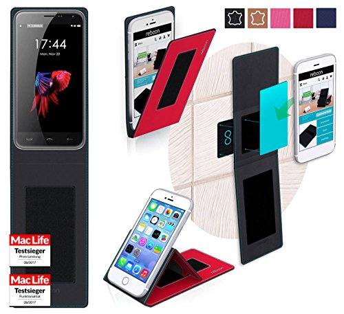 reboon Hülle für HomTom HT3 Pro Tasche Cover Case Bumper | Rot | Testsieger