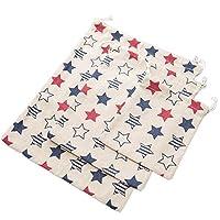 Cdet 3X Bolso de viaje impreso de algodón y lino de equipaje de té bolsa para guardar ropa Estrella