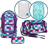 Satch Schulrucksack-Set 5-TLG Pack Hurly Pearly Bunt