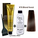 Lot coloration cheveux 100 ml Oro Therapy bond fonc
