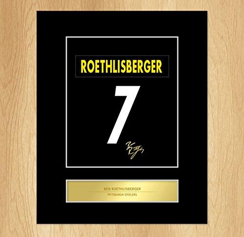 Ben Roethlisberger Artistic espositore di foto a forma di targhetta, motivo: Pittsburgh Steelers