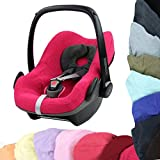 BAMBINIWELT Sommerbezug, Schonbezug, Bezug aus Frottee für MAXI-COSI PEBBLE Babyschale (pink)