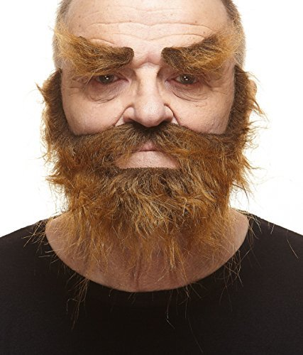Realistischer brauner Trapper fälschen, selbstklebend Bart, Schnurrbart und (Bärte Theater Schnurrbärte Und)