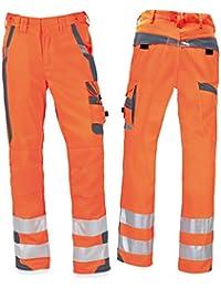pka Warnschutz Arbeitshose, Warnschutz Bundhose mit Elastikbund, EN ISO 20471