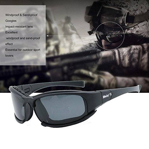 Taktische Brille für Herren, X7, polarisierte Sonnenbrille, Motorradbrille, Schutzbrille