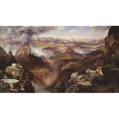 The Museum Outlet–Thomas Moran–Grand Canyon, su tela telaio. 29,7x 41,9cm