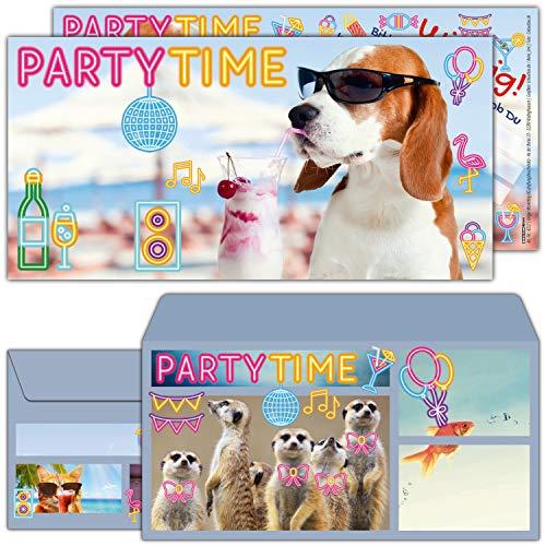 Einladungskarten mit Umschlag zum Kindergeburtstag oder Party - Einladung für Kinder, Teenager & Erwachsene von BREITENWERK ()