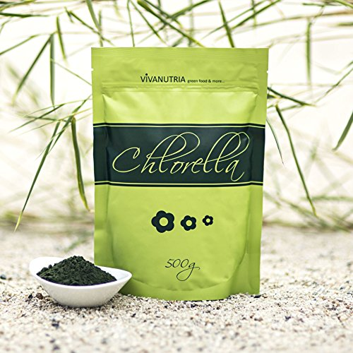 VivaNutria Chlorella Pulver, 500g, Rohkostqualität!