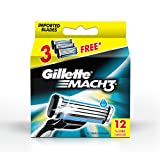 #9: Gillette Mach 3 Manual  Shaving Razor Blades (Cartridge) 12s pack