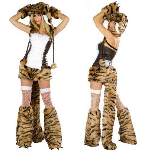 iger Fell Muster Catwoman -Anzug Rollenspiel- Tier Kleid Weihnachten Kleid ()