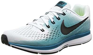 low priced d5460 65db4 ... Running Shoes  ›  Nike Men s Air Zoom Pegasus 34 White Black - Blustery  880555-101 (13)