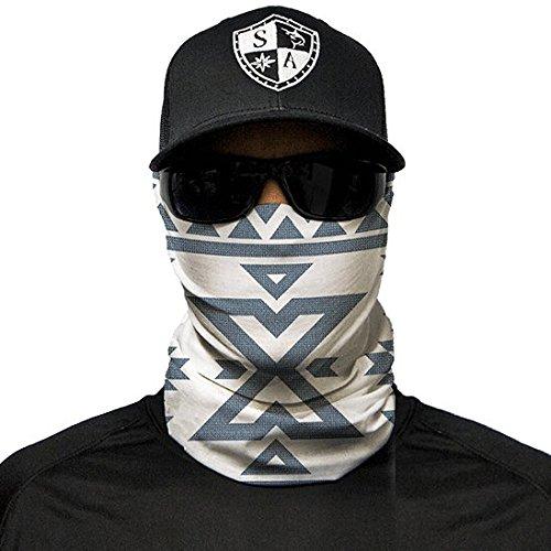 SA Fishing Company Face Shield Sturmhaube *viele Verschiedene Designs* Multiunktionstuch Maske Fishing Totenkopf Schal Skull Bandana Gesichtsmaske Halstuch Ski Motorrad Paintball Maske (Aztec)