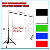 Heavy Duty Professional Grade Backdrop cum Light Stand of 14Feet Height w 5 Color Backdrop Screen: Black, White, Red, Blue, Green, Blue of 8x12F [ GizmoGrid ] at amazon