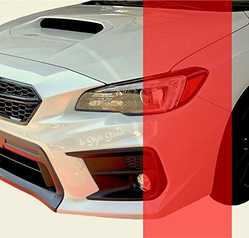 1A Style Sticker Rote Folie für die Folierung der Rückleuchten am Auto, Motorrad 200 cm x 30 cm
