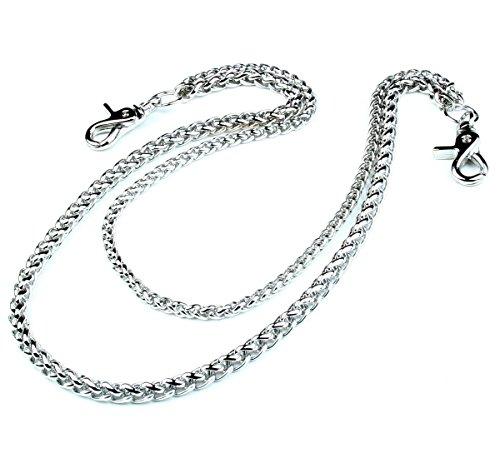 Preisvergleich Produktbild DoubleK 2 Line Börsenkette Biker Schlüsselkette Keychain Wallet Chain (61cm) Silber NCS68