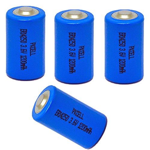 ER14250 LS14250 Er3s 3.6 V 1/2AA 1200 mAh Piles Li-socl2 (4Pièces)