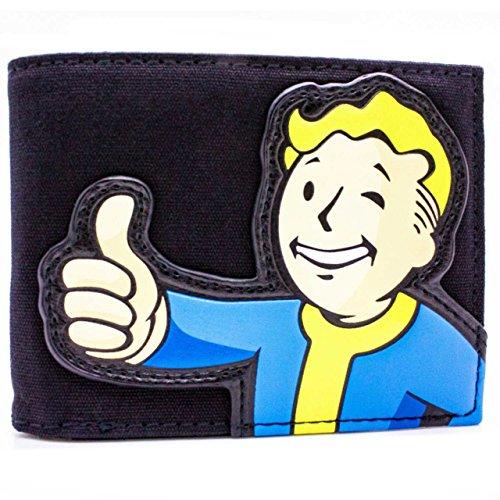 Bethesda Fallout 4 Tessuto Vault Boy Nero portafoglio
