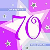 Servilletas rosas 70 cumpleaños - pack de 16 991801