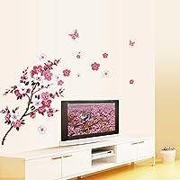 rybyte (TM) Bella Peach Blossom Fiori Rimovibile Sticke Arte Adesivi