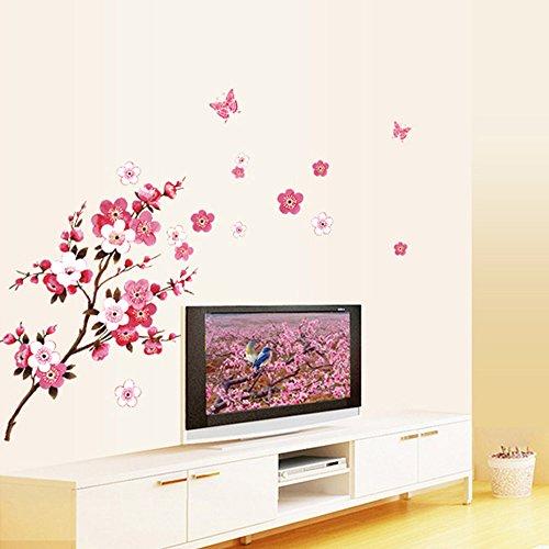 ryask-tm-beautiful-peach-blossom-fiori-smontabile-wall-sticke-art-decalcomanie-adesivi-in-vinile-ade