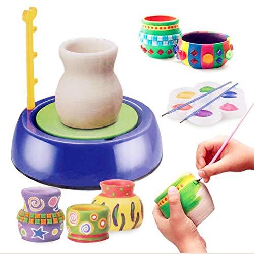 Töpferscheibe, elektrische Kinder DIY Arts & Crafts Keramik Töpferscheiben Clay Pottery Wheel Machine