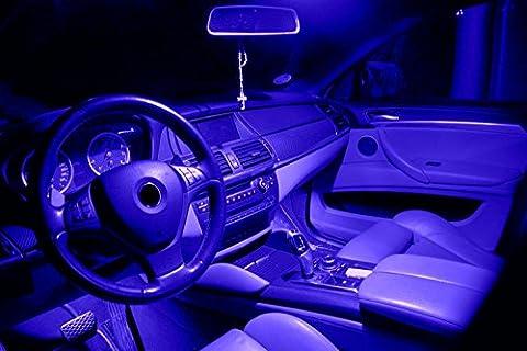Blau LED Innenraumset in passend für VW Golf 6 auch GTI 3- und 5-Türer Baujahr seit 2008