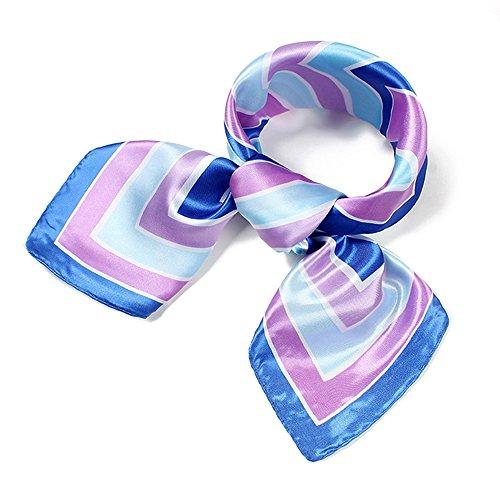 UK_Stone Damen Klassisch Streifen Gross Bandana Schal (Damen 60 Die Flugbegleiterin Kostüm)