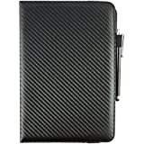 Emartbuy (9-10 Inch) Black Carbon 360 Degree Rotating Stand Folio Wallet Case Cover For Huawei MediaPad M3 Lite 10 Tablet 10.1 Inch
