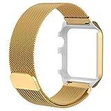 Apple Watch Band, Minilop Milanaise Bracelet de rechange en acier  inoxydable avec fermeture magnétique Fermoir 8dc03328de9