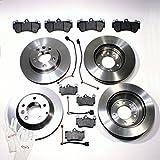 Autoparts-Online Set 60003237 Bremsscheiben 18 Zoll/Bremsen + Bremsbeläge + Warnkabel für Vorne + Hinten
