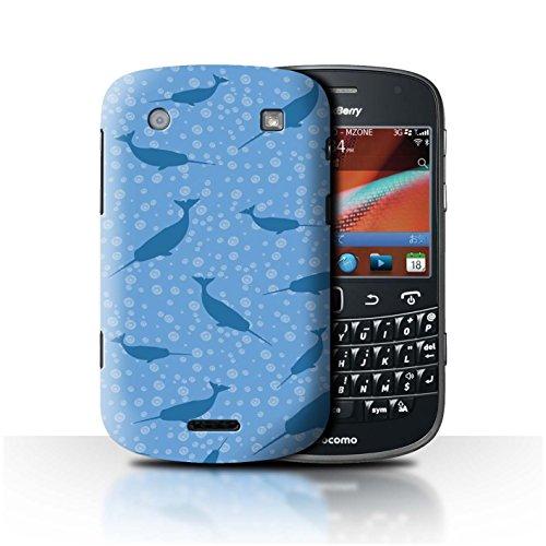 Stuff4® Hülle/Case für BlackBerry Bold 9900 / Blasen/Blau Muster/Süßes Narwal Einhorn Kollektion -