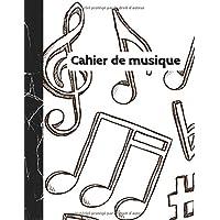 Cahier de Musique: Carnet de partitions - Papier manuscrit - 12 portées par page - 108 pages - Grand format - Couverture…