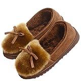 Damen Winter Plüsch Hausschuhe Komfort Warme Home Rutschfeste Faux Pelz Slippers Loafer Schuhe