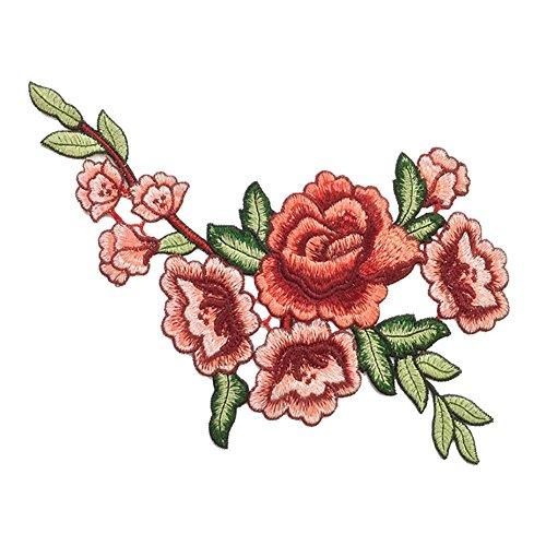 Blue Vessel 1 Stk Stickerei Blume Nähen auf Patch Abzeichen Tasche Hut Jeans Kleid Applique...
