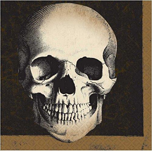 20 Servietten * BONEYARD * für Halloween, Party und Geburtstag // Skull Schädel Napkin Party Blut Horror Gruseln