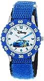 Disney Kids' W000369 Cars Stainless Steel Time Teacher Blue Bezel Blue Nylon Strap Watch