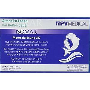 ISOMAR 00001 Meersalzlösung 3% für Inhalation (Packung mit Ampulle), 18×5 ml