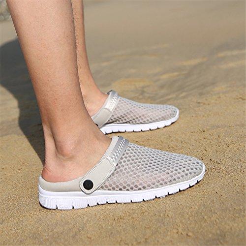 SAGUARO® Unisex Clogs Hausschuhe Muffin unten alltägliche Drag Hausschuhe Beach Schuhe Sommer Grau